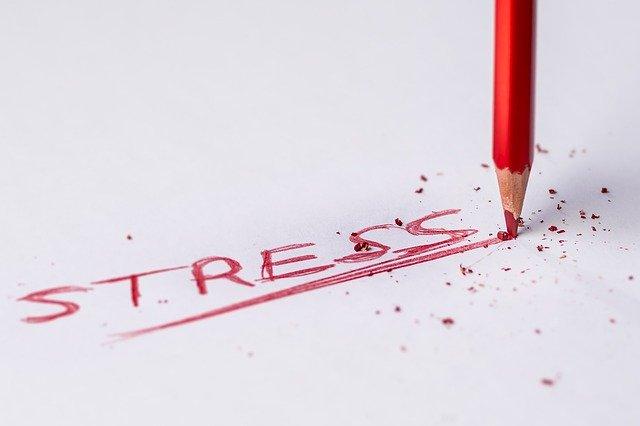 Nápis stress