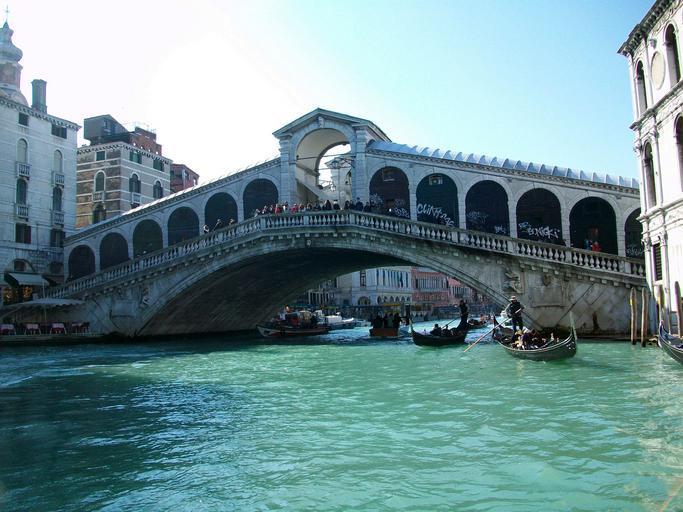 slavný most Ponte Rialto