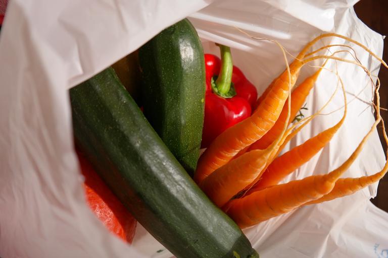 zelenina v jednom sáčku
