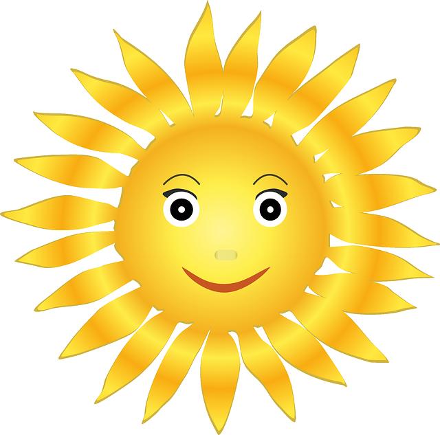 usměvavé pozitivní sluníčko